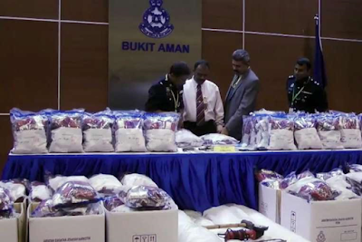 Malaysian police has smashed 30 major Nigerian and Iranian drug rings over the past six years