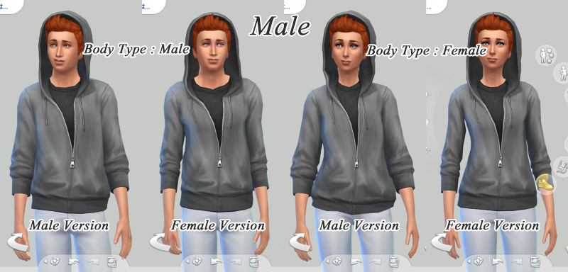 6e31e8e65f Mod The Sims - WCIF  Hoodie (with hood on head) for male sims