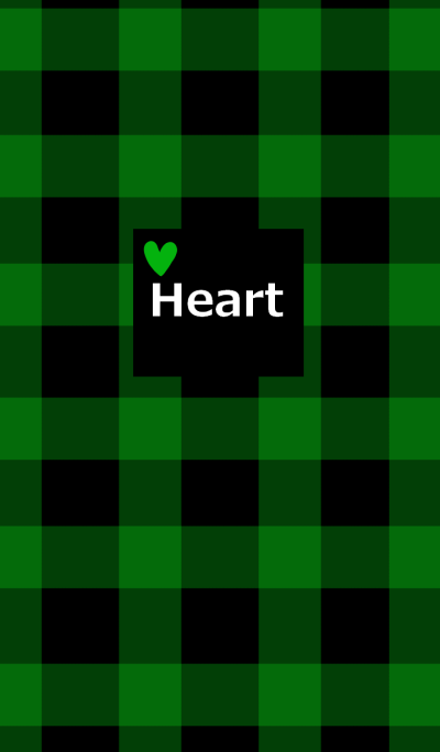 Check pattern and green heart