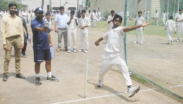 District Cricket Association conducts 230 kids in under-16 cricket team trials
