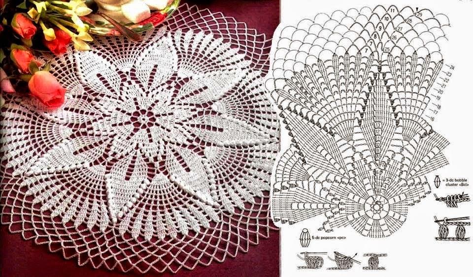 Carpeta al crochet con centro de estrella