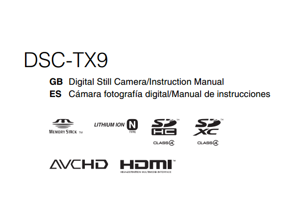 Sony Cyber-shot DSC-TX9 User Manual