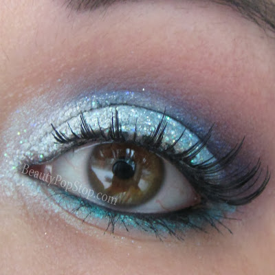 new year's eve makeup look inspired by disney movie frozen