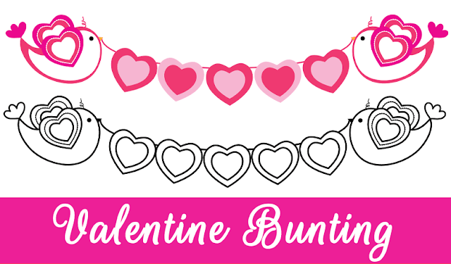 Valentine Bunting Clipart