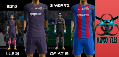 PES 2013 Barcelona Kit 2016-17 Kit V.2 With Amazon Sponsor By KIMO T.L.B 19