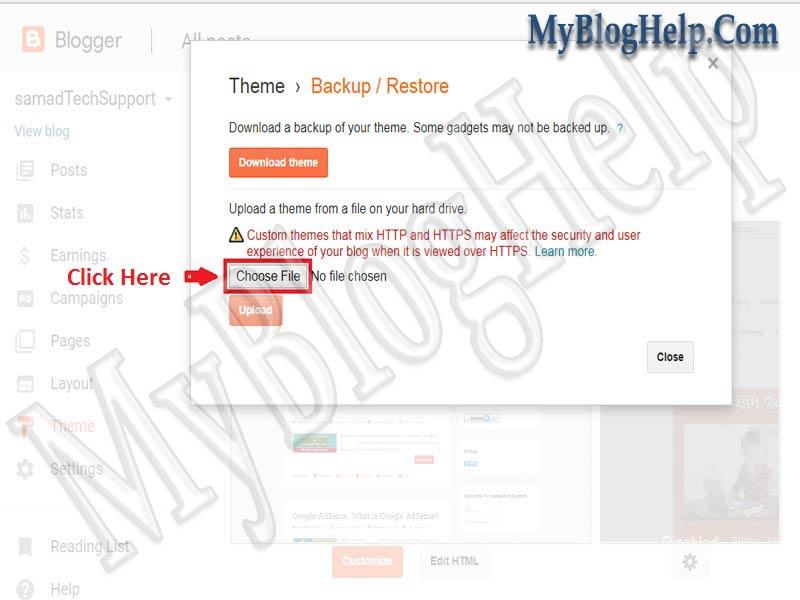 How to Install/Upload Custom Blogger Template in Blogger Blog ...