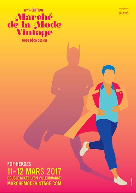 Affiche du marché de la mode vintage 2017