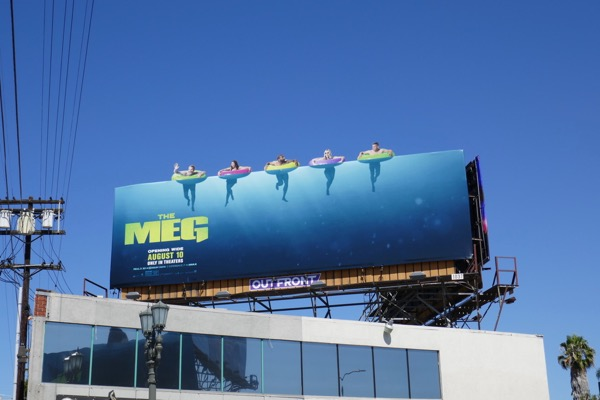 The Meg extension cut-out billboard