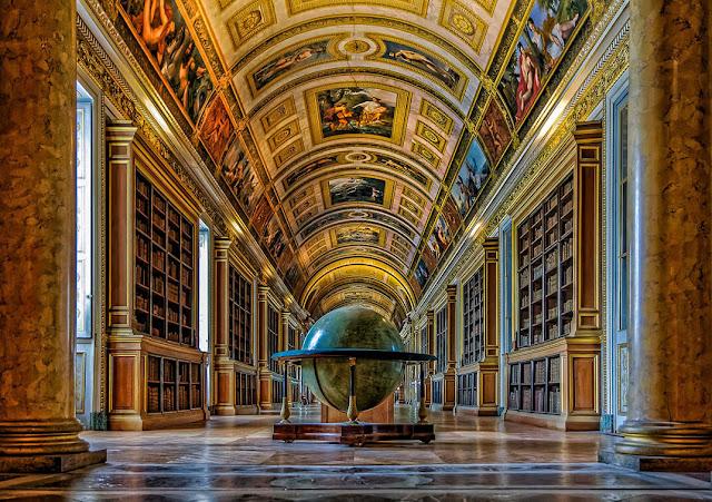 Palacios cerca de París Biblioteca del Emperador Fontainebleau
