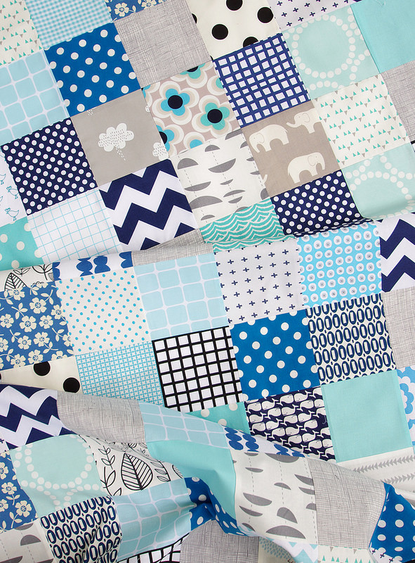 Baby Blues - Custom Order Quilt | Red Pepper Quilts