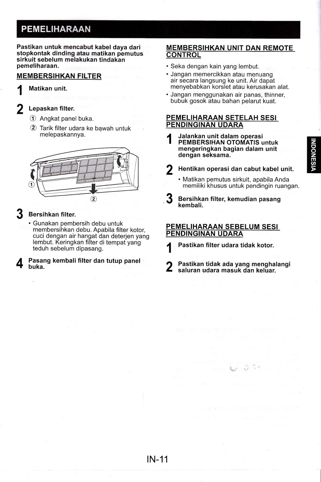 Manual Book   Petunjuk Penggunaan Ac Sharp Ah