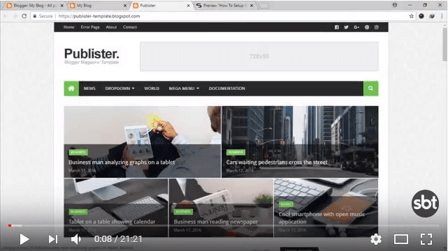 High quality free blogger templates just click the below image to watch the video directly on youtube or click this link how to setup publister blogger template wajeb