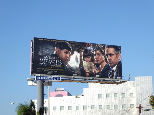 Fantastic Beasts and Where Find Them billboard