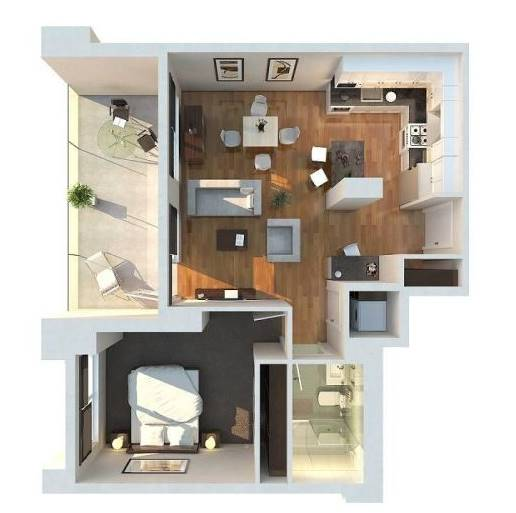 12 model denah rumah minimalis 1 lantai type 36 desain