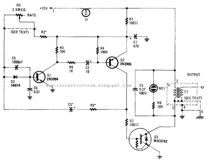 HighVoltage Pulse Supply Circuit Diagram