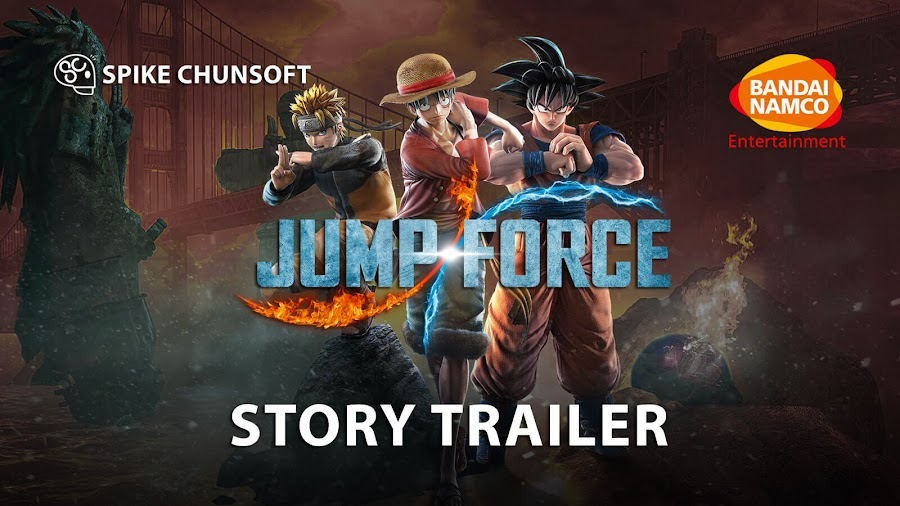 jump force story trailer bandai namco pc ps4 xb1