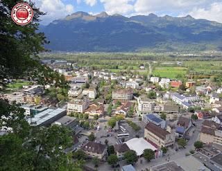 Panorámica desde el Castillo de los Príncipes de Vaduz, Liechtenstein