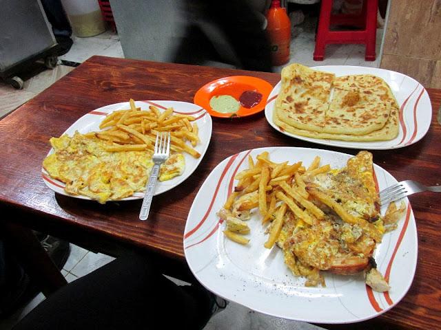 Cena: Omelettes y msemen - Essaouira