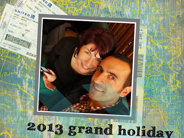 2013 Stampin' Up! Grand Holiday - MDS Photobook Layout 1 - Inside Cover