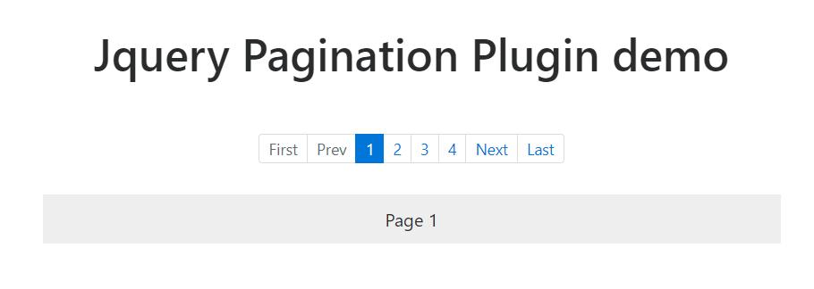 jQuery Pagination plugin | SKPTRICKS