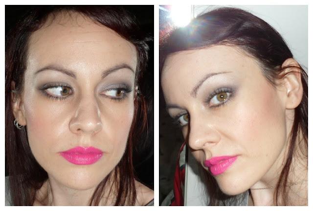 Maquillaje en tonos grises y plata
