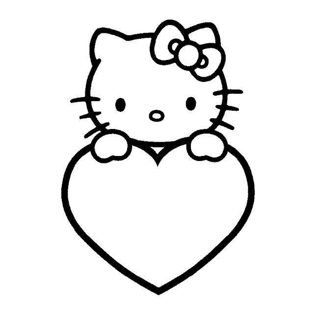 Kumpulan Mewarnai Gambar Hello Kitty Yuk Warnai