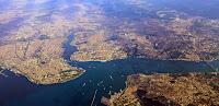 İstanbul'un kuş bakışı bir görünümü