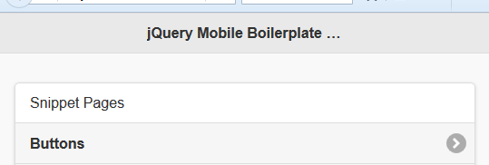 jQuery Mobile Boilerplate A single Place For Developer To