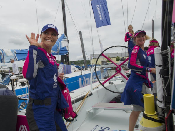 Crown Princess Victoria of Sweden attended Volvo Ocean Race in Gothenburg