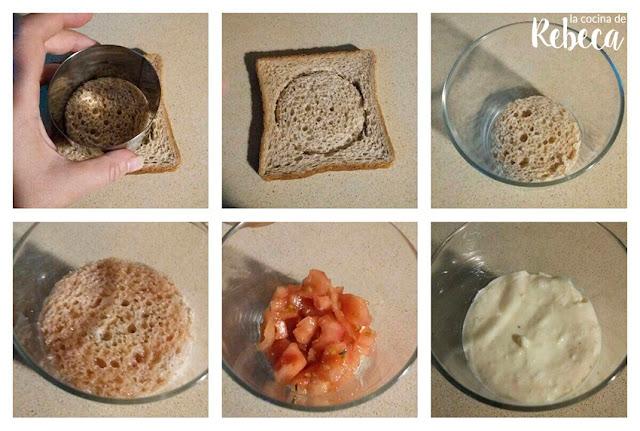 Receta de tiramisú de tomate, queso y polvo de jamón 05