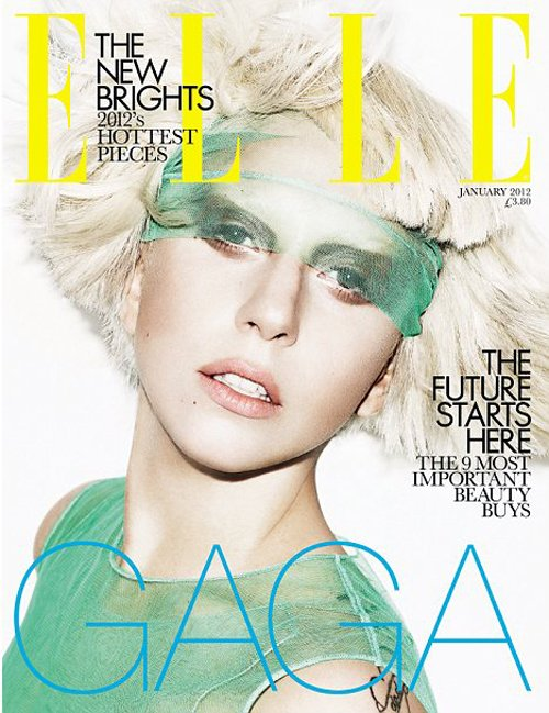 LADY GAGA for ELLE UK January 2012
