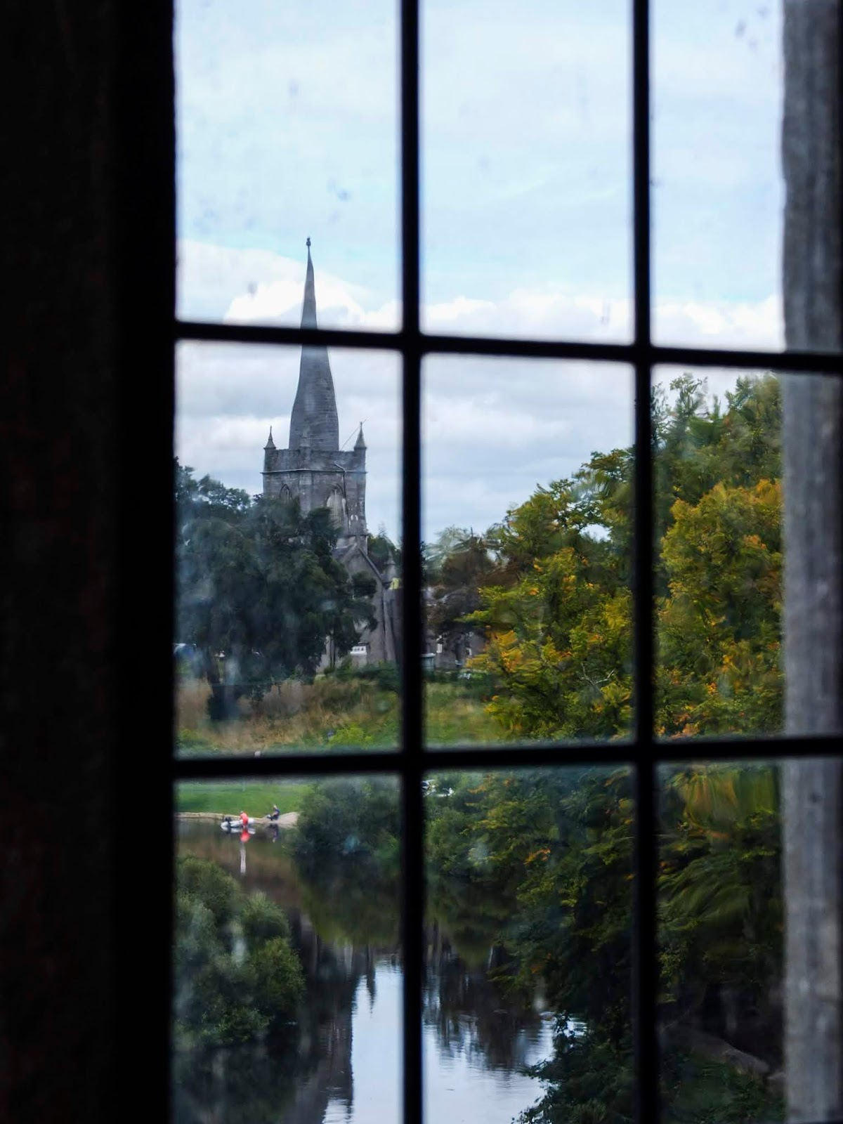 View from a window in the Cahir Castle, Co.Tipperary.