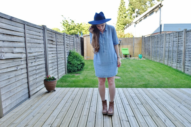 denim tent dress oversized