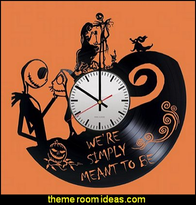 The Nightmare before Christmas Handmade Vinyl Record Wall Clock Fun gift Vintage Unique Home decor Art Design Retro Interier