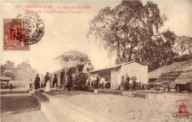 Ga Bà Chiểu năm 1913  Photo by Pierre Dieulefils