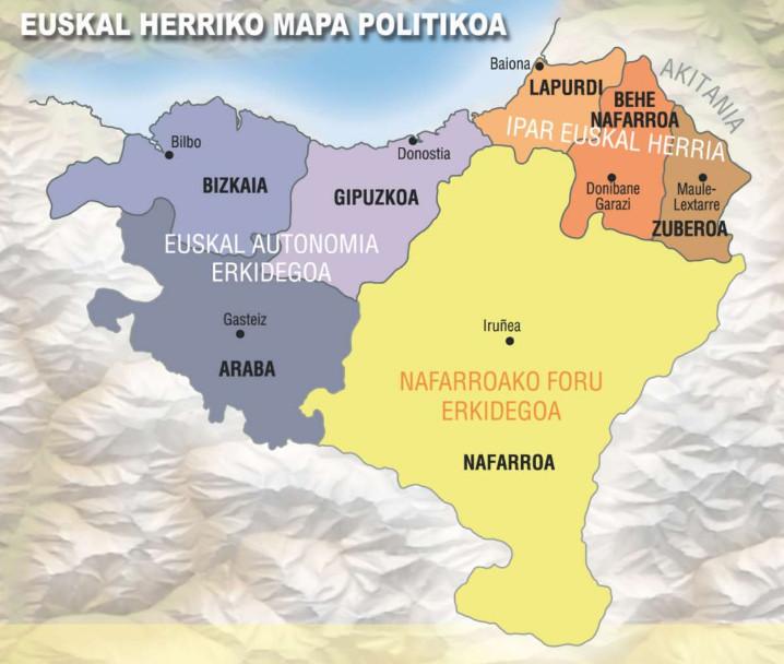 Euskal Herriko Mapa Politikoa.4 1 Maite Ditut Gure Bazterrak Euskal Herriko Mapa