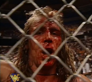 WWE / WWF - In Your House 18: Badd Blood - A bloody Shawn Michaels tries to escape from The Undertaker