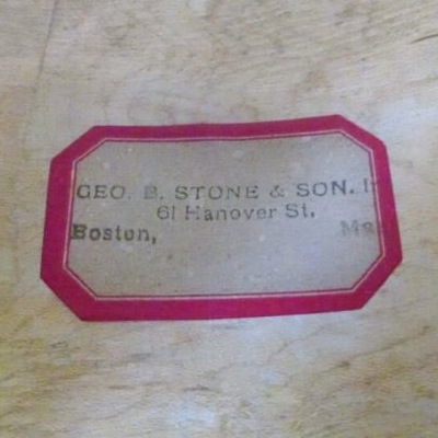 Late George B. Stone & Son Single Tension Field Drum Label