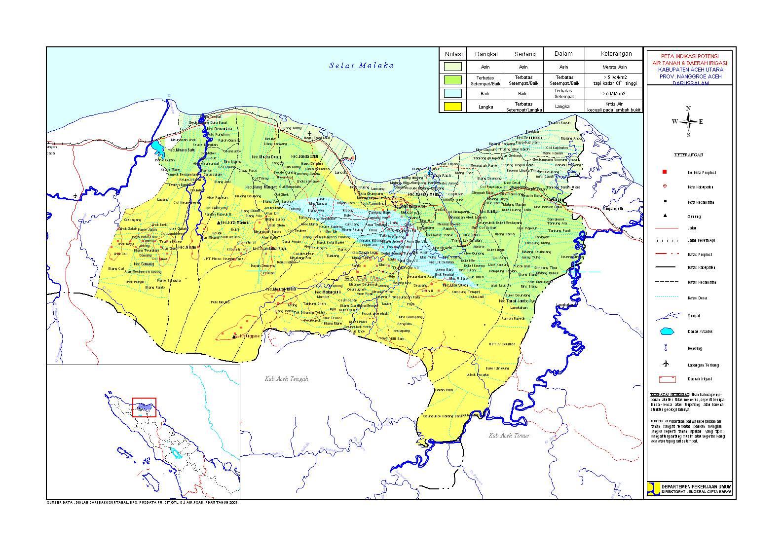 Peta Kabupaten Aceh Utara
