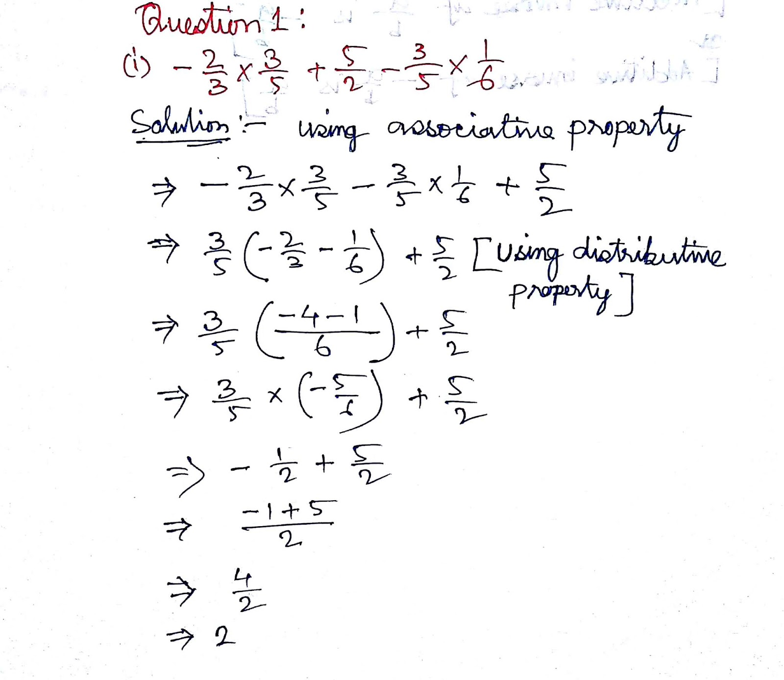 Ncert Solution For Rational Numbers Class 8 Maths Chapter 1