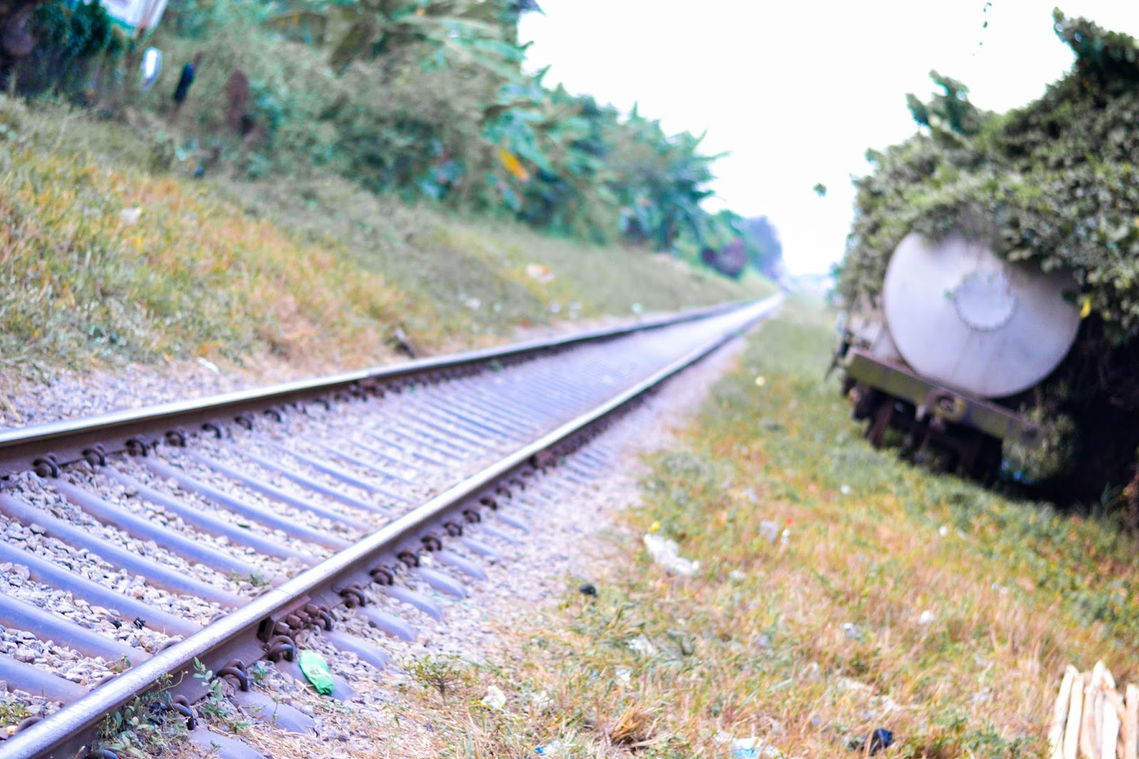Railway Track and Abandoned Train in Ebute Metta Lagos