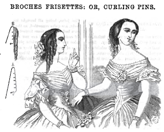 Godey's 1859 Curling Pin Picture
