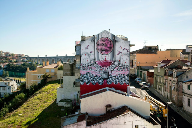 Second Street Art Mural By How Nosm For Underdogs 10 On The Streets Of Lisbon, Portugal 3