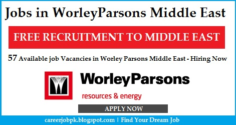Jobs Opportunities in WorleyParsons Middle East