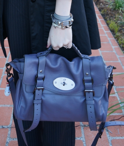 Away From The Blue Accessories Mulberry Foggy Grey regular size Alexa Bag
