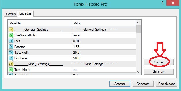 Forex hacked pro settings guide