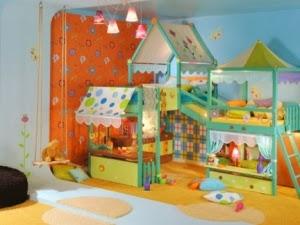 Dormitorio colorido para niño