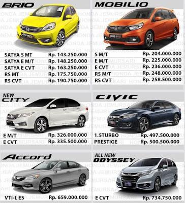 daftar harga honda surabaya 2018