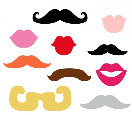 Round up free printable photobooth props creative juice for Mustach template