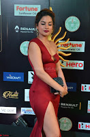 Natasha Nebasha in a Leg Slit Sleeveless Stunning Red Gown at IIFA Utsavam Awards 2017 007.JPG